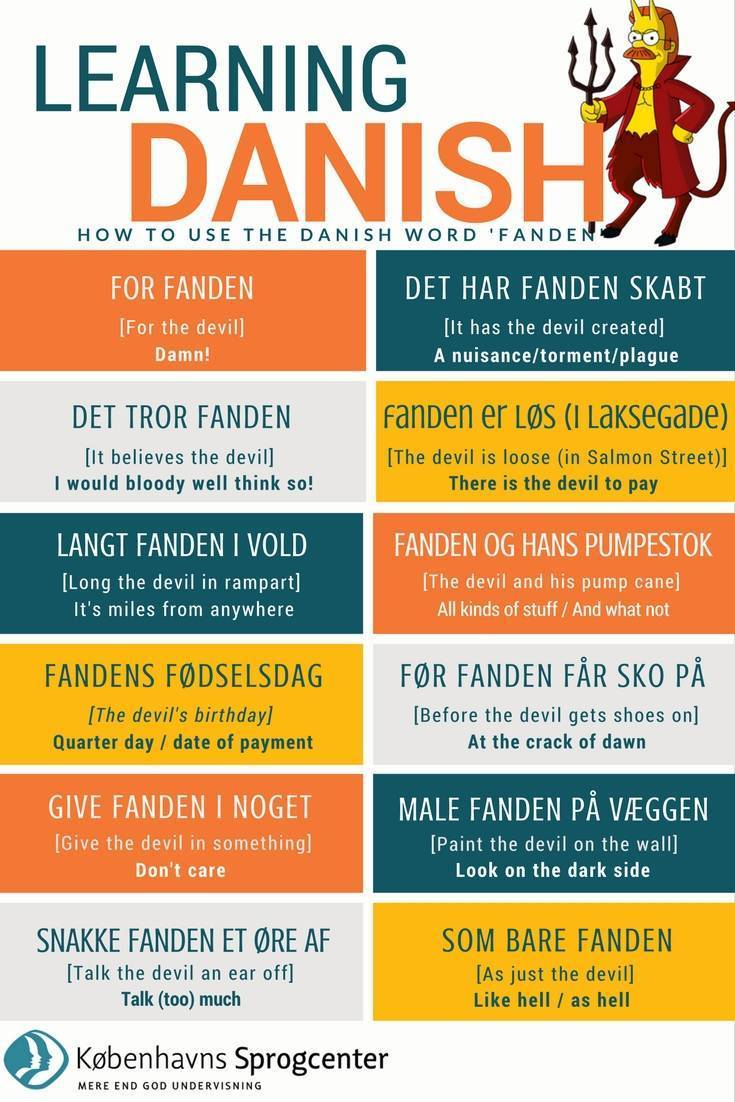Danish expressions with the devil
